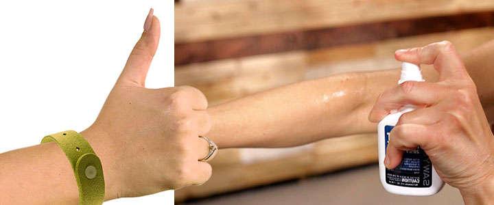 Eficacia de la pulsera de citronela comparada con el spray repelente de mosquitos